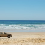 Gorgeous truck in a gorgeous location (Fraser Island)