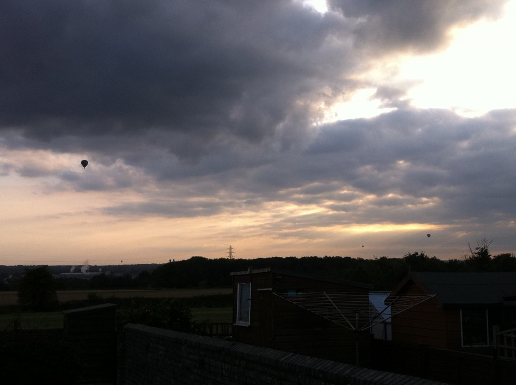 Sunset and balloons