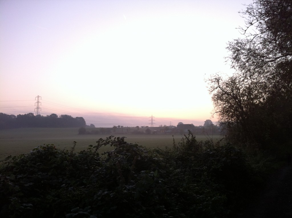 Sunrise over the North Downs