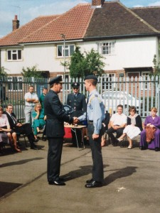 Being awarded Cadet of the Year by the Commandant Air Cadets