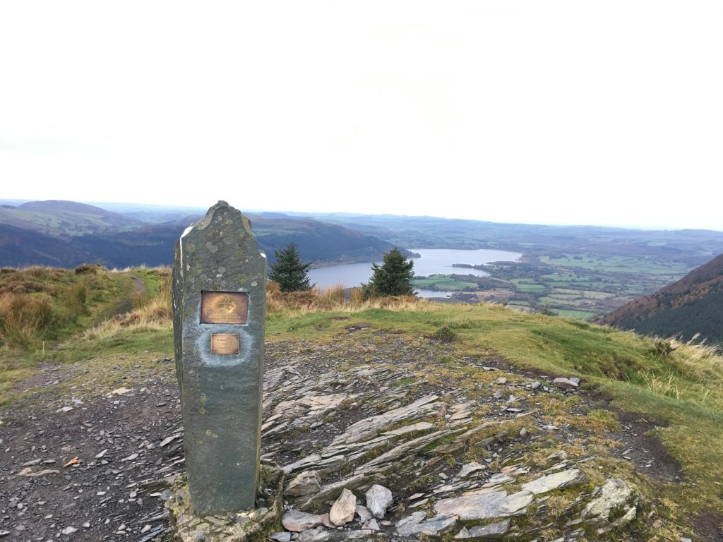 Memorial on Dodd and Bassenthwaite Lake
