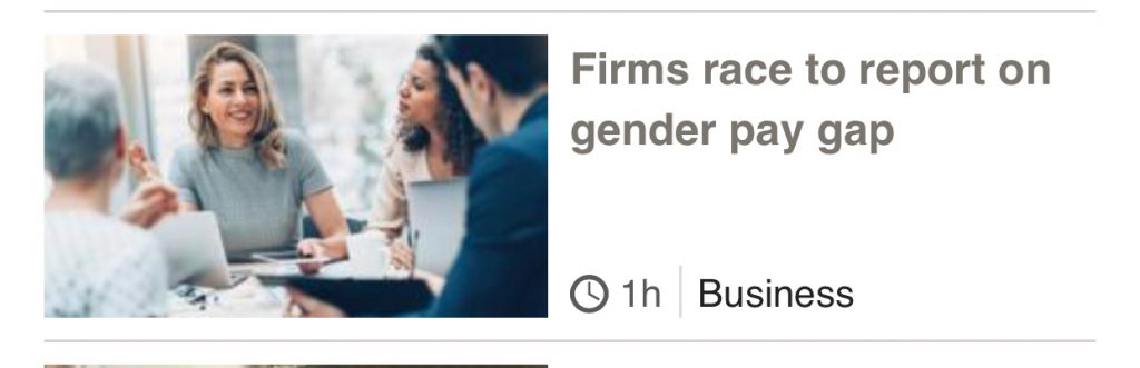 Pay Gap Headline