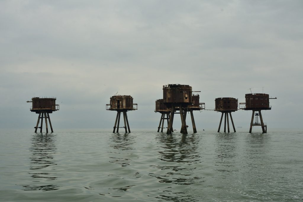 Redsand Forts looking like Martians