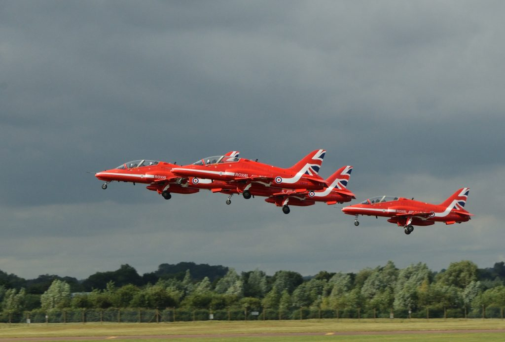 A Moody Red Arrows Shot