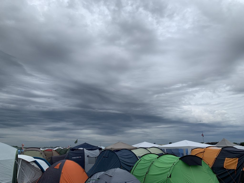 Lovely skies above the campsite