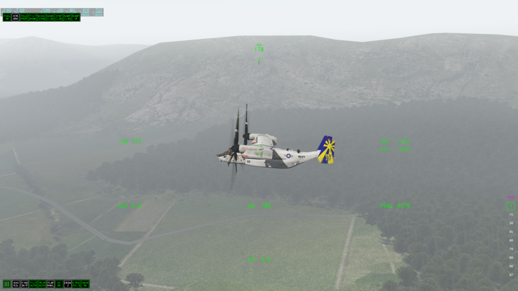 MV-22B on a misty day in the Lakes