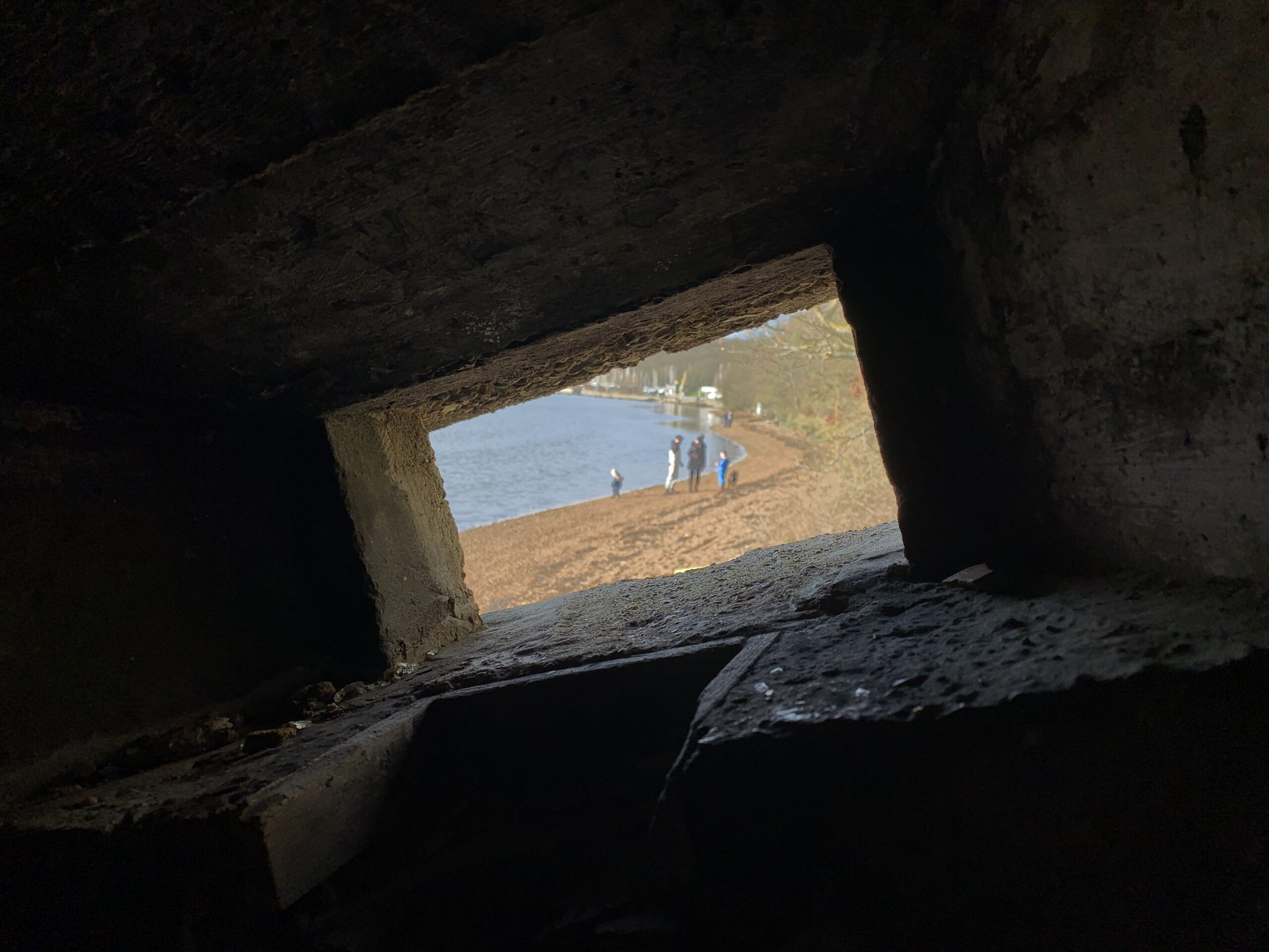 Cockham Wood Pillbox Inside Out View